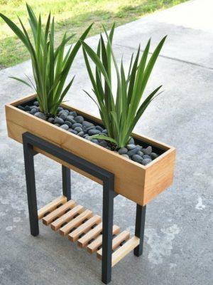 گلدان چوبی مدرن مدل گلدان چوبی مدرن مدل BH-FB2 با بک گراند