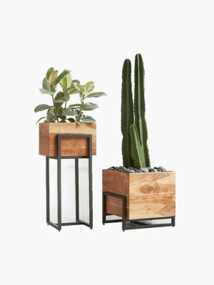 گلدان چوبی مدرن