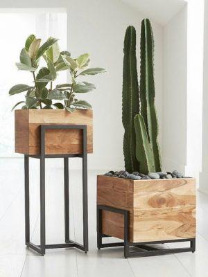 گلدان چوبی مدرن مدل گلدان چوبی مدرن مدل BH-FB1