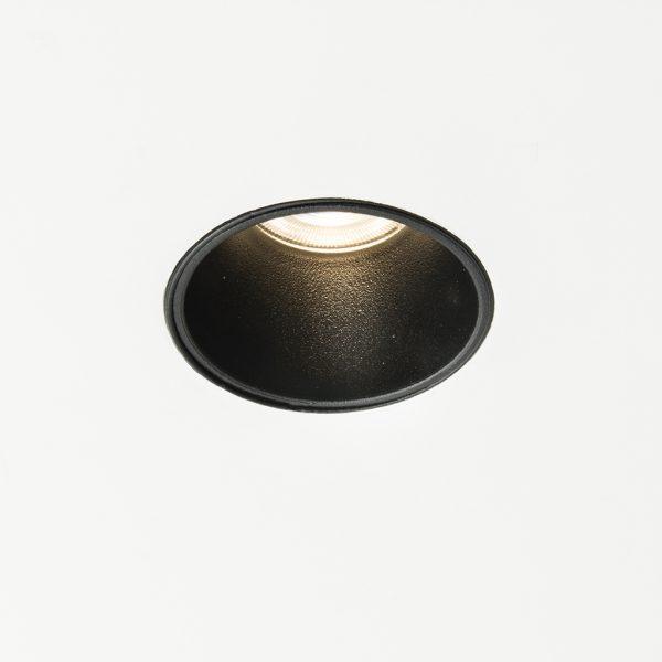 لامپ چراغ سقفی توکار مدل سیبرون مدل سیبرون مشکی با چراغ روشن