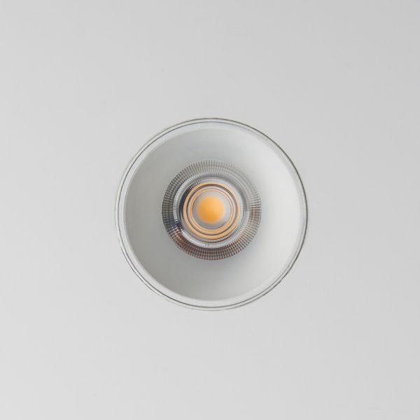 لامپ چراغ سقفی توکار مدل سیبرون مدل سیبرون سفید با چراغ روشن نمای زیرین