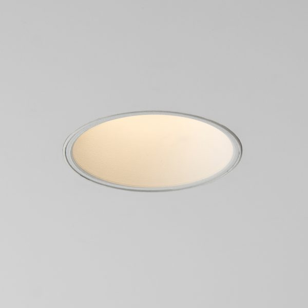چراغ سقفی توکار مدل سیبرون سفید با چراغ روشن