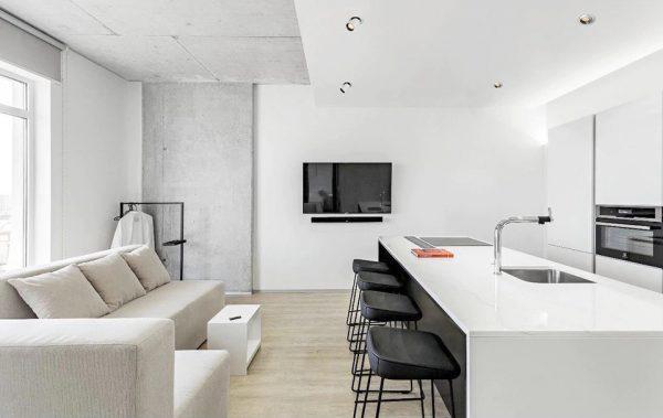 تصویر نمونه اجرا شده چراغ سقفی توکار فکی مدل SPY در منزل مسکونی
