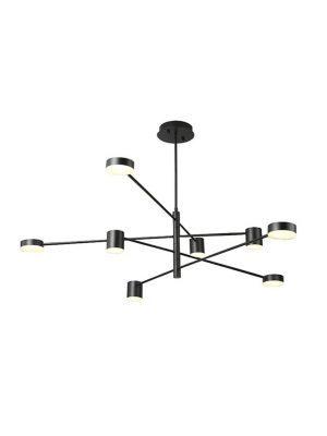تصویر لوستر مدرن مدل motvikt با لامپ روشن
