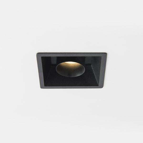 چراغ سقفی توکار مربعی مدرن مدل Tiran S مشکی