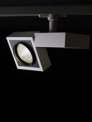 چراغ سقفی ریلی مدرن در دو رنگ بدنه مشکی و سفید
