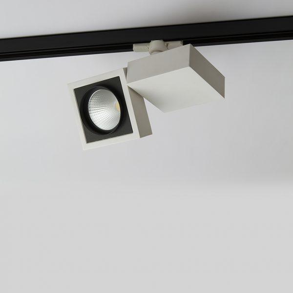 چراغ سقفی ریلی مدرن مدل Vera Twin در حالت خاموش