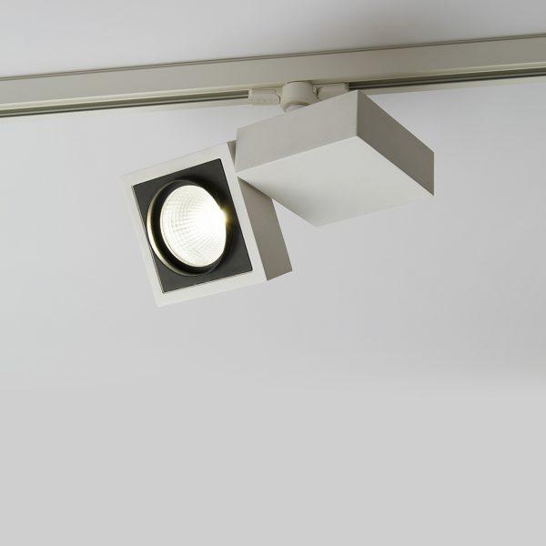 چراغ سقفی ریلی مدرن مدل Vera Twin در حالت روشن