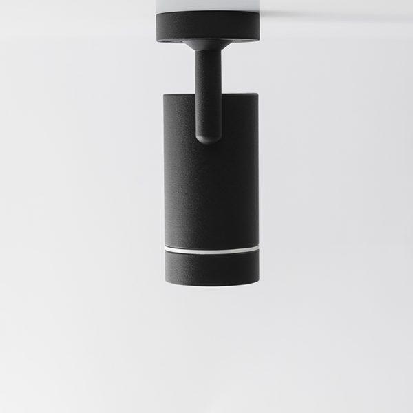 چراغ سقفی مدرن مدل Aro SA رو به پایین به رنگ مشکی
