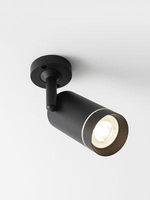 چراغ سقفی مدرن مدل Aro SA درحالت روشن به رنگ مشکی