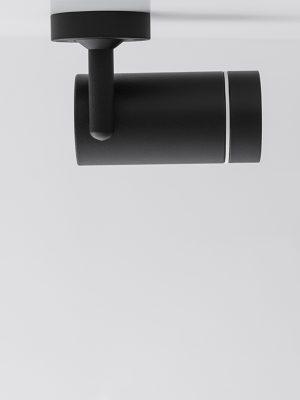 چراغ سقفی مدرن مدل Aro SA درحالت چرخش به راست به رنگ مشکی