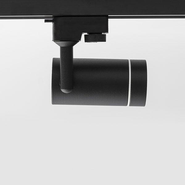 چراغ سقفی ریلی مدرن مدل Aro Track درحالت چرخش به راست به رنگ مشکی