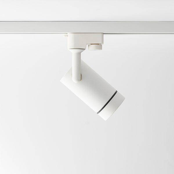 چراغ سقفی ریلی مدرن مدل Aro Track درحالت مورب به راست به رنگ سفید